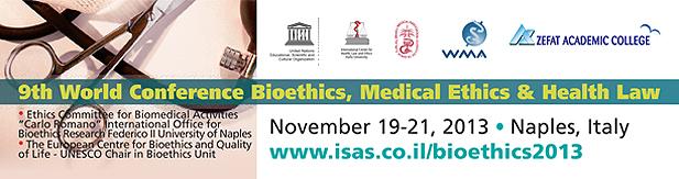 9ª Conferência Mundial da Cátedra UNESCO de Bioética